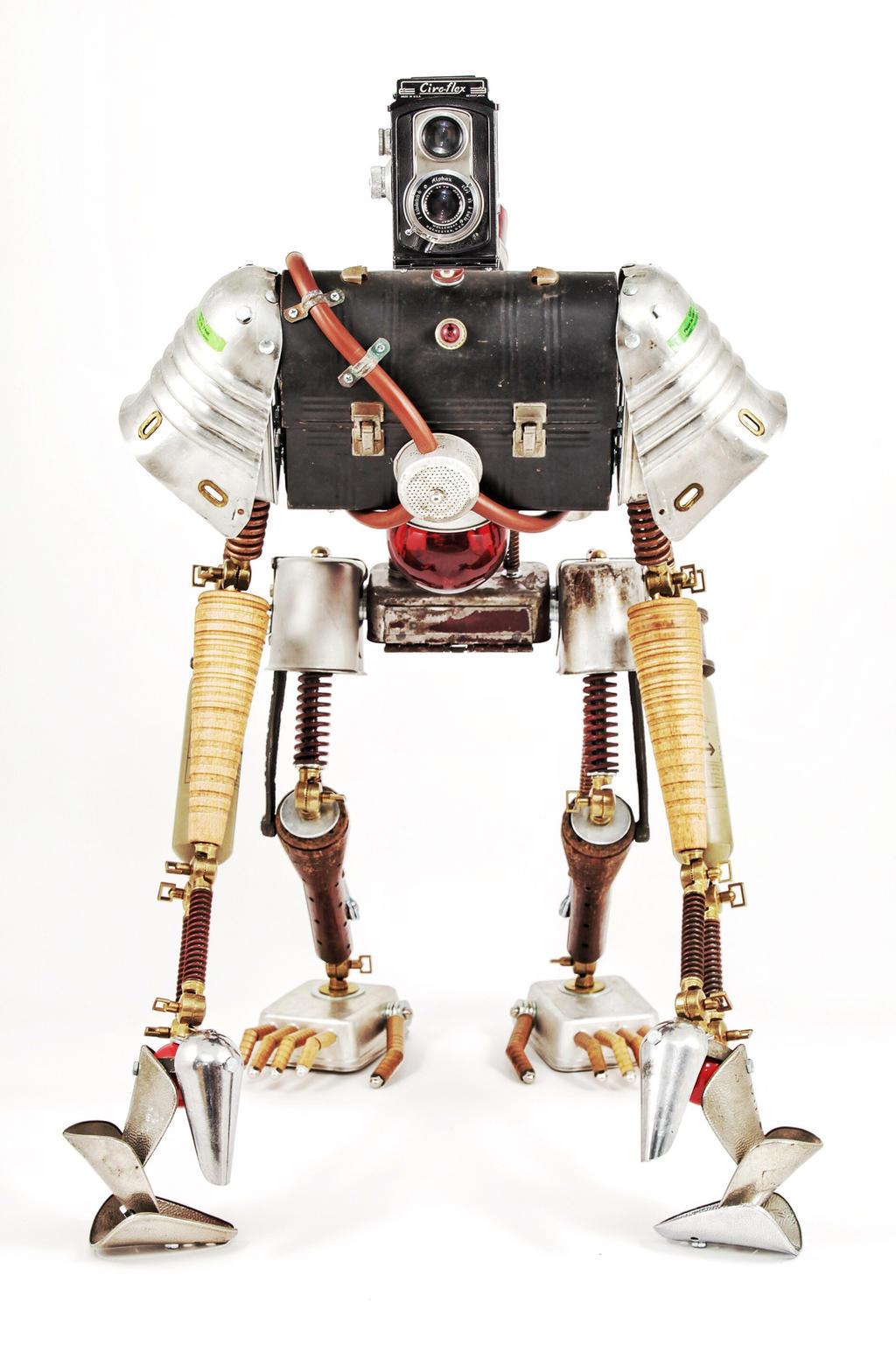 Duncan - Found object robot assemblage sculpture