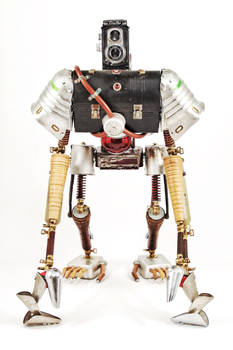 Duncan - Found object robot assemblage sculpture