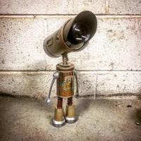Found object robot assemblage sculpture adoptabot