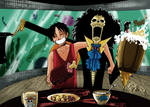 Collab Luffy and Brook