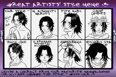 Style meme Portgas D. Ace