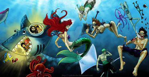 Mugiwara underwater by Yukidechu