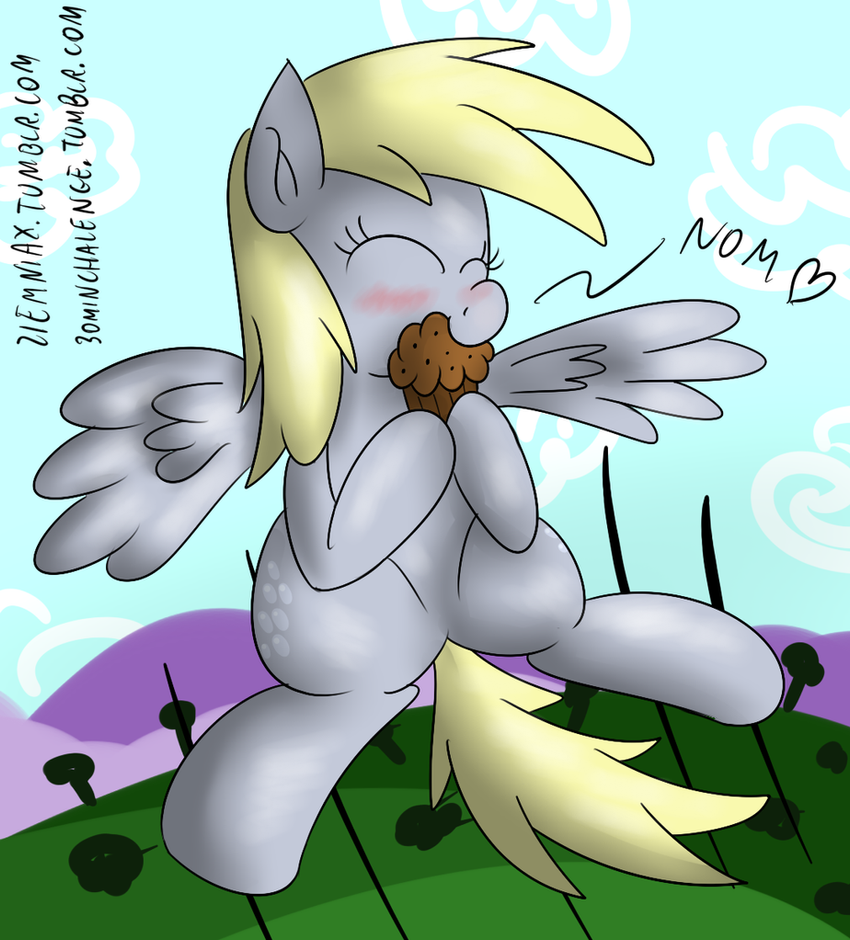 Derpy and her muffin 30 min art challenge by Ziemniax