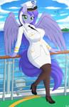 Captain Mariah on her ship