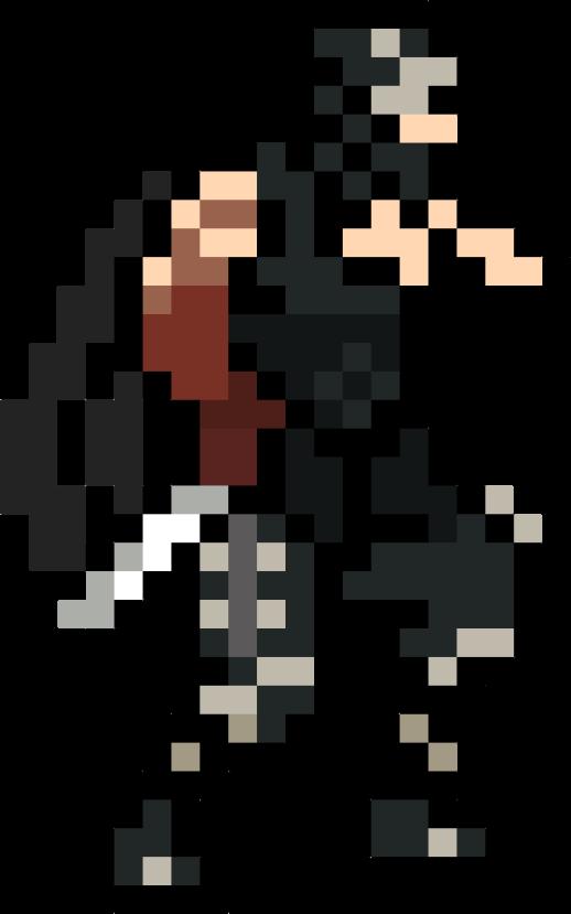 ninja gaiden nes pixel art