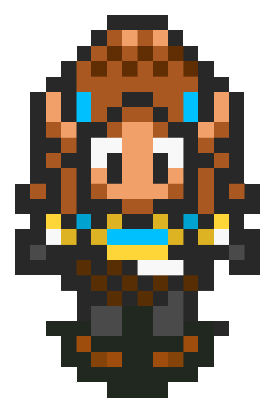 Princess Zelda (The Breath of Wild) - SNES Style by MaikeruThePlayer