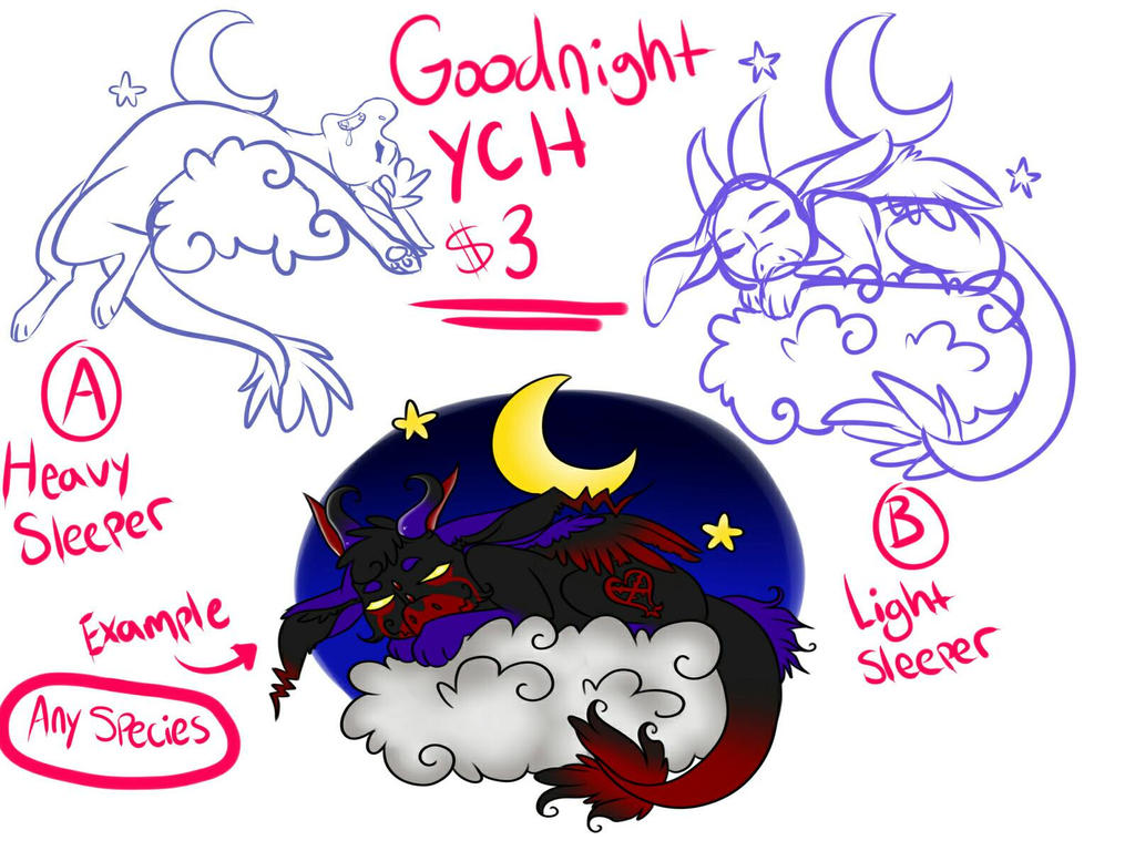 Good Night YCH by Kneel4Loki13