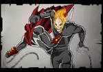 Spawn vs Ghost Rider by demonic-brute