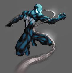 Symbiote Spidey by demonic-brute