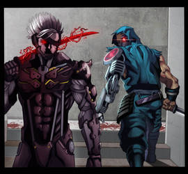 Cyborg Ninjas- Yaiba and Raiden by demonic-brute