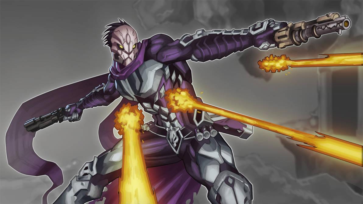 Strife shooting artwork by demonic-brute