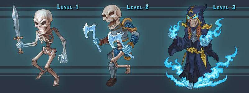 Ice skull 3 levels