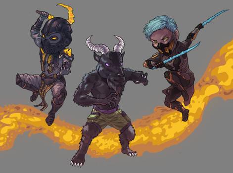 Mortal Kombat Chibi Commission