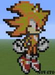 Minecraft. Pixel Art. Super Sonic
