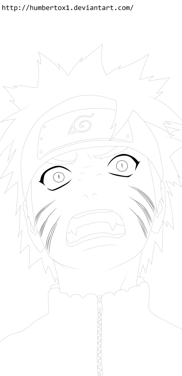 Naruto (Angry) Lineart by humbertox1