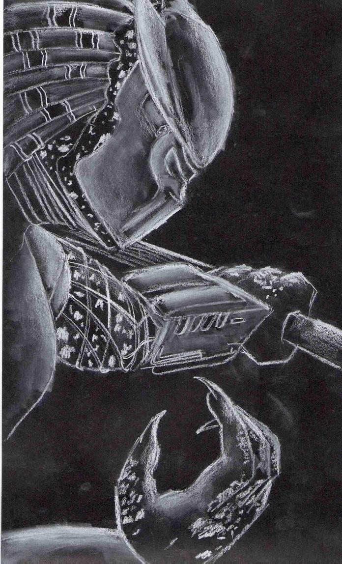 Predator on Black by Fire-Redhead