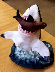 Shark breach for a seal sculpture by Fire-Redhead