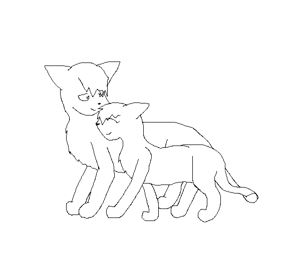 Cat Love Drawing Cat Love Line Art by