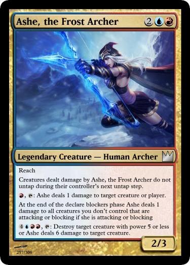 Ashe the Frost Archer 257/306 by draconichero18