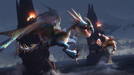 Stormfly, fetch! by valachhim
