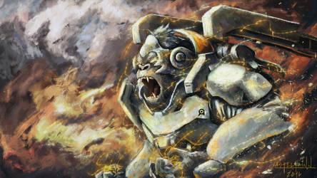 Winston - Overwatch (fanart)