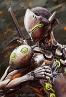 Genji - Overwatch by Asteltainn