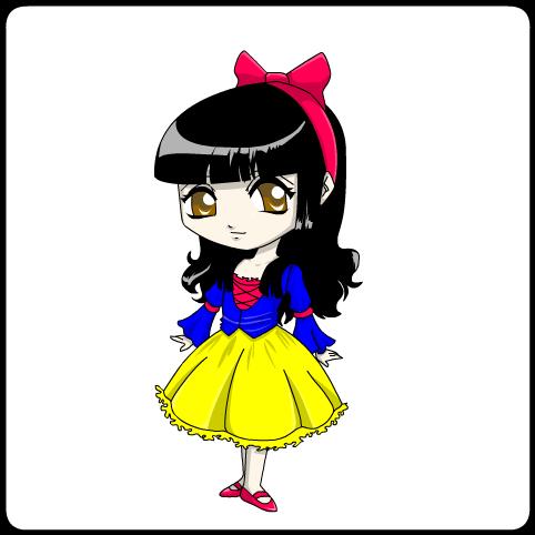 colored princess- snow white by jodisamma