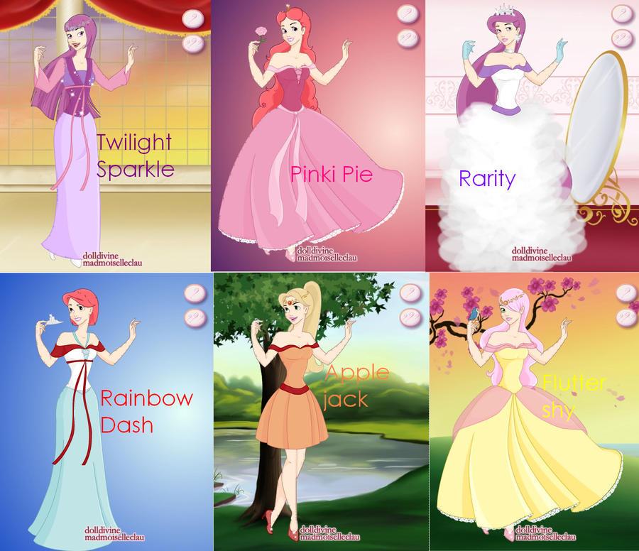 MLP FIM as disney princess by jodisamma