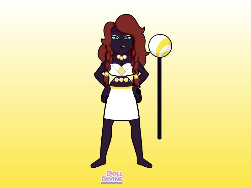 My real gemsona named Obsidian by jodisamma