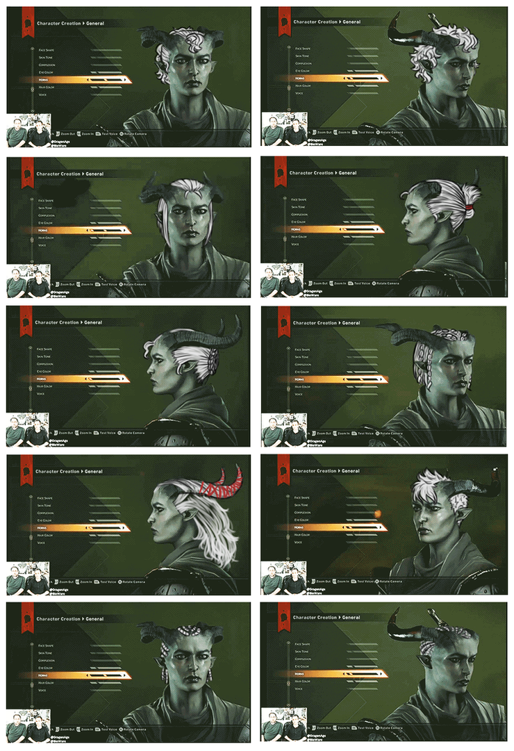 Qunari Hair we didn't get pt.3 by MsLilly