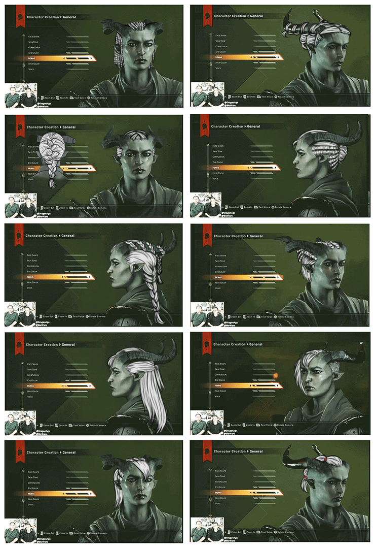 Qunari Hair we didn't get pt.2 by MsLilly