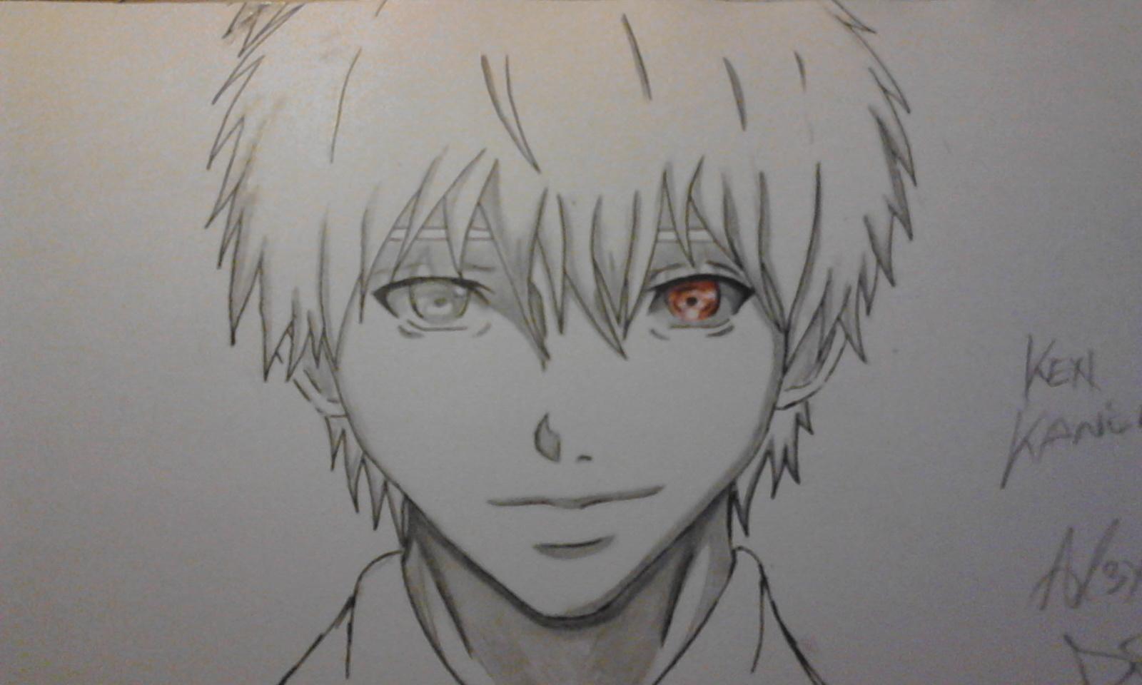 Kaneki Ken (like Anime 95%) My Draw Challenge By AL3X796