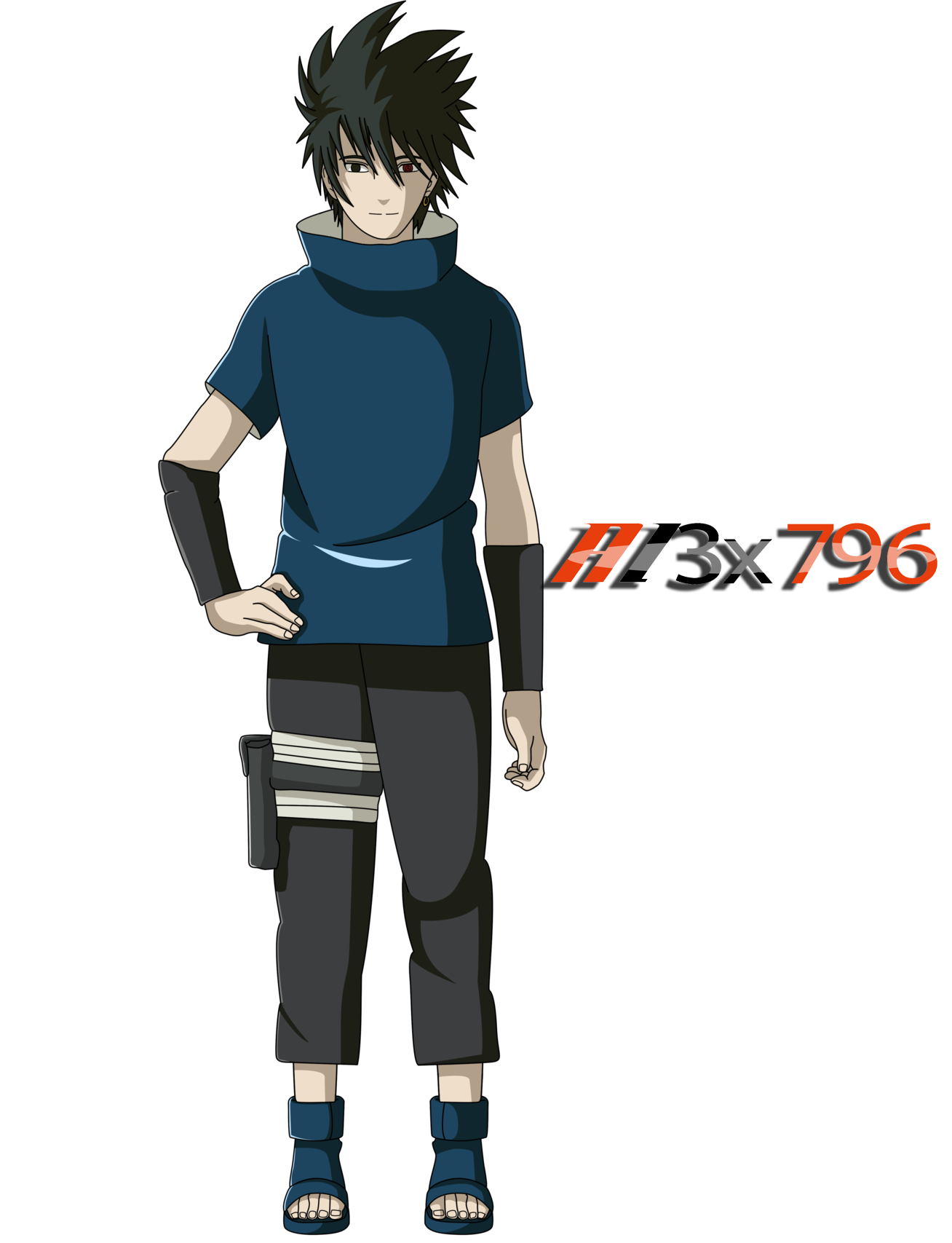 Sakebe Uchiha Full body render by AL3X796 on DeviantArt