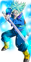 Trunks future dragon ball super ssj blue by AL3X796