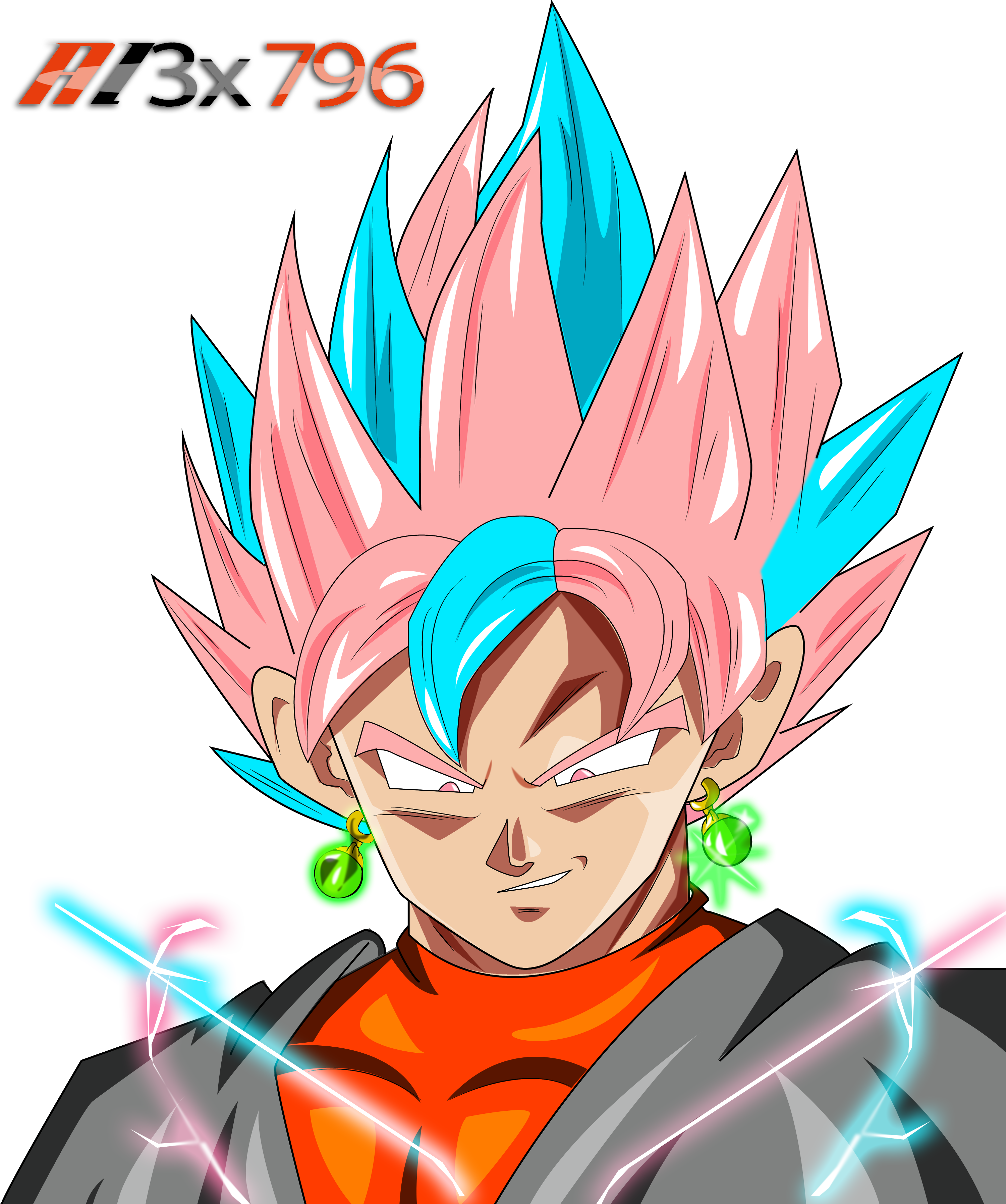 Black And Goku Fusion By AL3X796 On DeviantArt