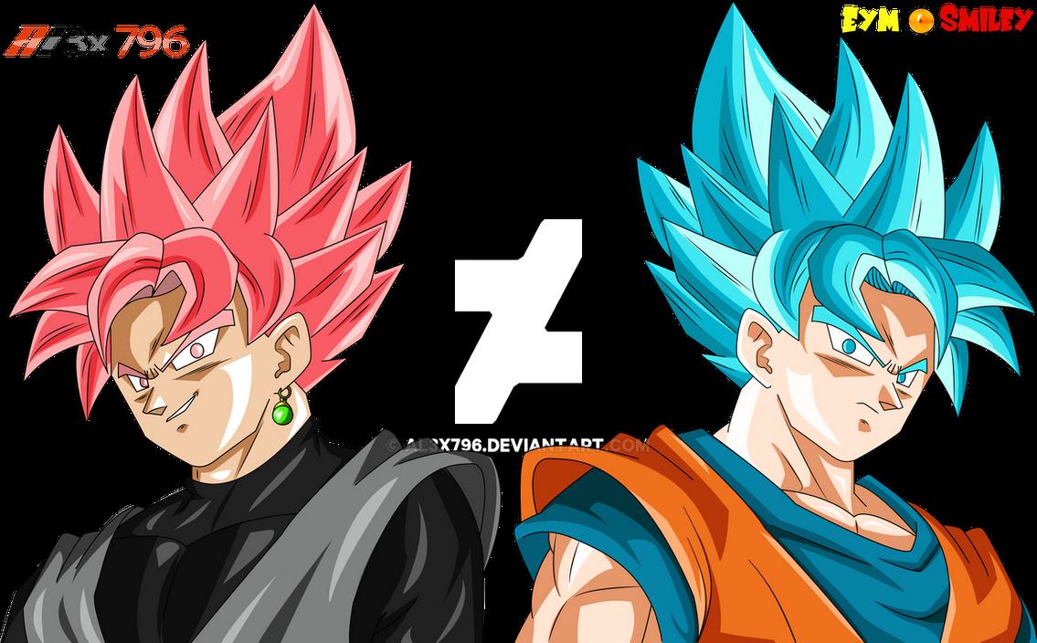 Goku Black Ssj Rose Para Colorear: Black Ssj Rose Vs Goku Ssgss Collab By AL3X796 On DeviantArt
