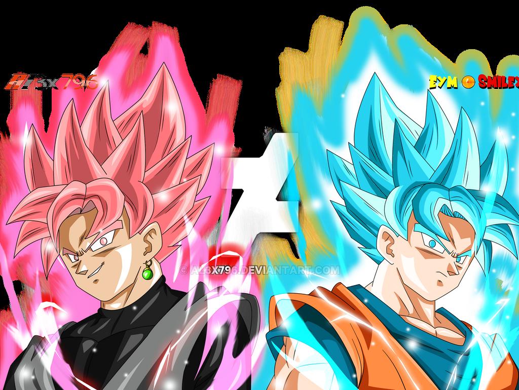 Goku Ssj4 Vs Goku Ssj3: Black Ssj Rose Vs Goku Ssgss Auras Effect Collab By