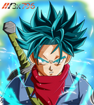 Trunks ssj blue palette1 aura effect