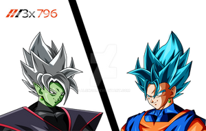 Merged God Zamasu vs Vegito