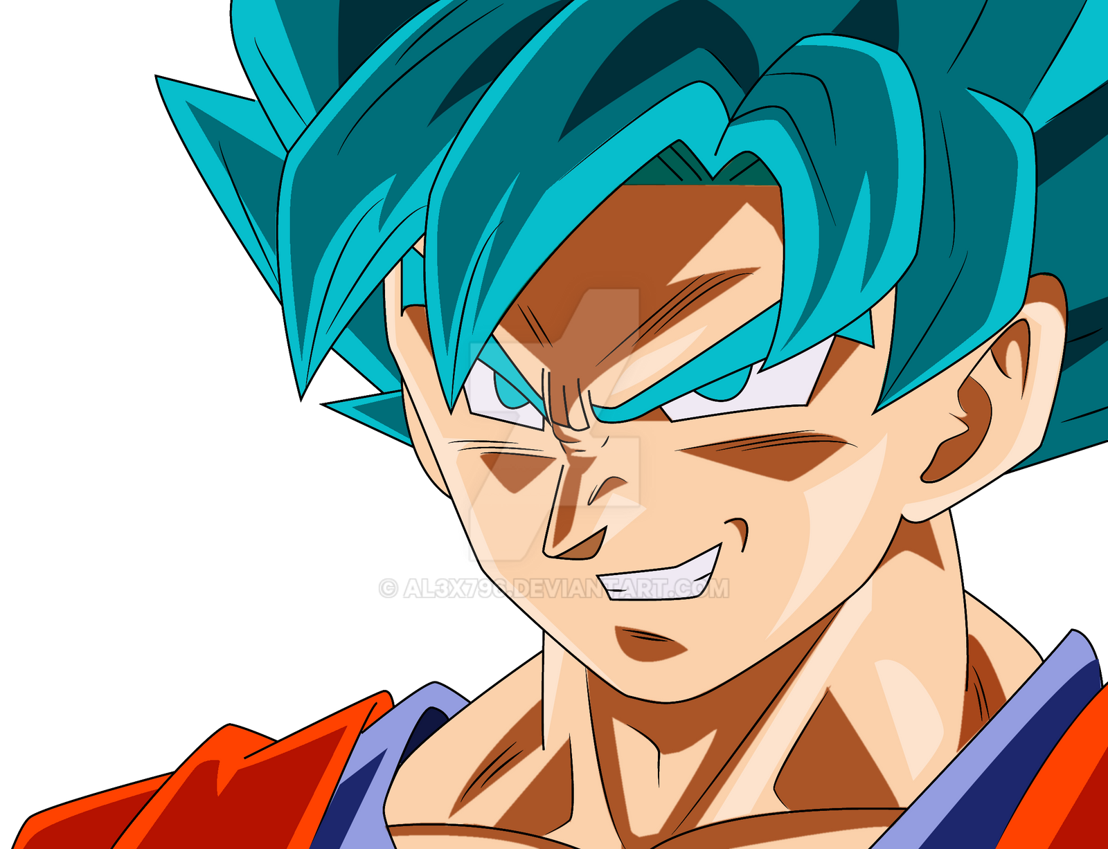 Goku Super Sayayin Dios Azul Para Colorear: Goku Ssj Blue By AL3X796 On DeviantArt