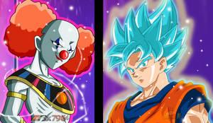 Clown God vs Goku Wallpaper HD  fanmade