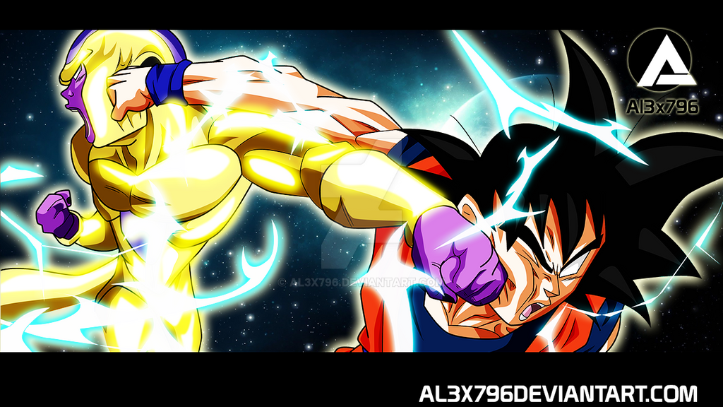 Goku Vs Golden Frieza Space Wallpaper COMISSION By AL3X796