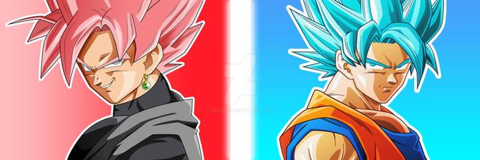 GOKU ROSE VS GOKU BLUE WALLPAPER HD