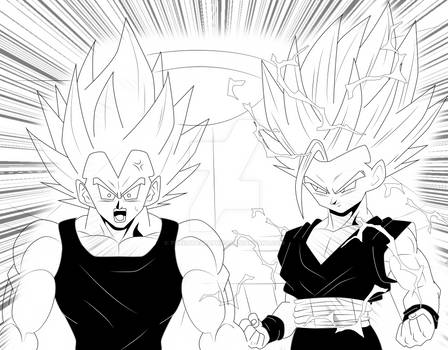 WHAT IF ? - GOHAN TRAINING WITH VEGETA! - DBZ