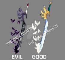 SWORD OF THE CHAOS - ARTHUR - GOOD/EVIL  SIDE