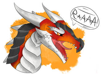 Screaming dragon by Domertizz