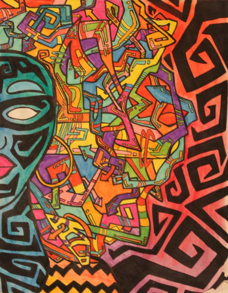Graffiti Afro by Shamancreations