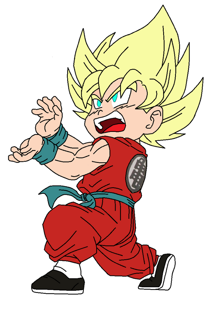 Kid Goku SSJ Kamehameha VIIII by pabex on DeviantArt