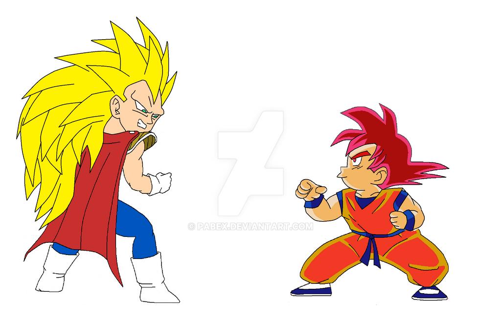 SSJG Kid Goku vs SSJ3 Kid Vegeta - Dragonball Forum ...
