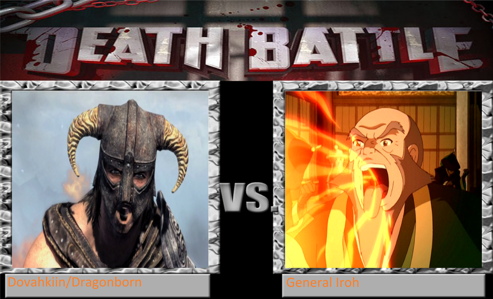 CGD64 Death Battle Dovahkiin vs Iroh by CrazyGamerDragon64